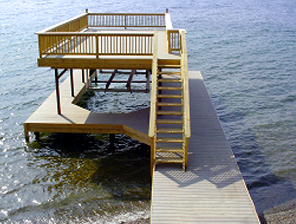 The Upper Deck Dock (Stairs And Railing Currently Not Permitted On Keuka  Lake).